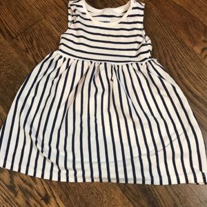 Old navy white and navy blue striped maxi dress